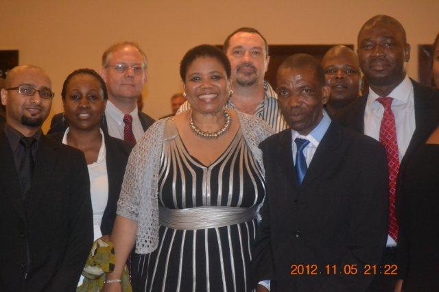 Dr Makgalemele And Her Team During The New Age Business Briefing  7